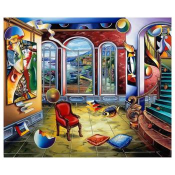 """Alexander Astahov, """"Master in Time"""" Hand Signed Limited Edition Giclee on Canvas with Letter of Authenticity."""