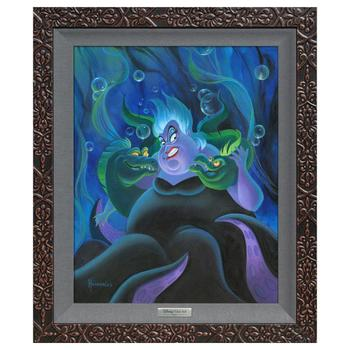 """""""Ursula and Her Messengers"""" Framed Limited Edition Canvas by Michael Humphries from the Disney Silver Series; with COA"""