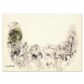 """Lebadang (1921-2015), """"Abstract I"""" Ltd Ed Embossed Lithograph, Numbered and Plate Signed with Letter of Authenticity."""