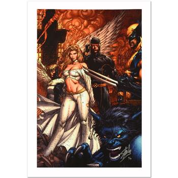 """Marvel, """"Uncanny X-Men #494"""" Ltd Ed Giclee on Canvas by David Finch, Numbered & Hand Signed by Stan Lee w/Cert."""