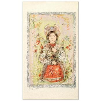 """Edna Hibel (1917-2014), """"Tonnette"""" Limited Edition Lithograph, Numbered and Hand Signed with Certificate."""