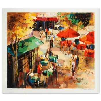 """Michael Rozenvain, """"Street Scene"""" Limited Edition Serigraph, Hand Signed with Certificate."""