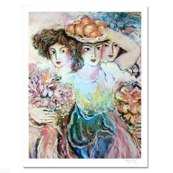 """Zamy Steynovitz (1951-2000), """"Three Women"""" Limited Edition Lithograph, Numbered and Hand Signed by the Artist."""