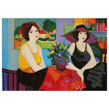 """Patricia Govezensky, """"Esco Bar"""" Hand Signed Limited Edition Serigraph on Canvas with Letter of Authenticity."""