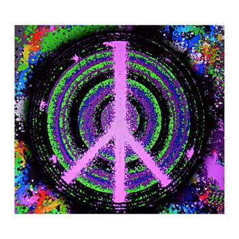 """Ringo Starr, """"Pink Peace"""" Limited Edition, Numbered and Hand-Signed with Certificate."""