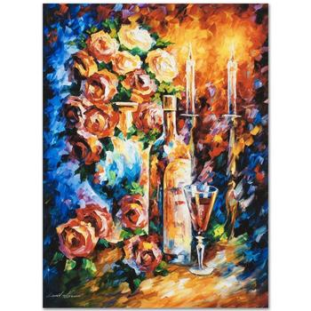 """Leonid Afremov """"Shabbat II"""" Limited Edition Giclee on Gallery Wrapped Canvas, Numbered and Signed; COA."""