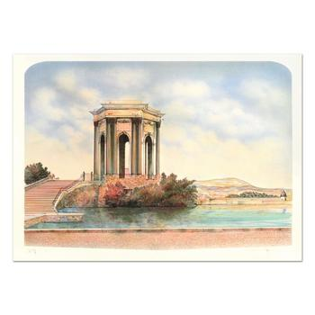 "Rolf Rafflewski, ""Monument"" - Limited Edition Lithograph, Numbered and Hand Signed."