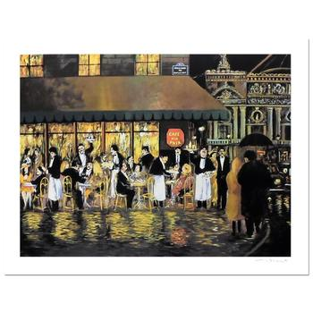 "Guy Buffet, ""Cafe de la Paix"" Limited Edition Serigraph; Numbered and Hand-Signed with Certificate of Authenticity."
