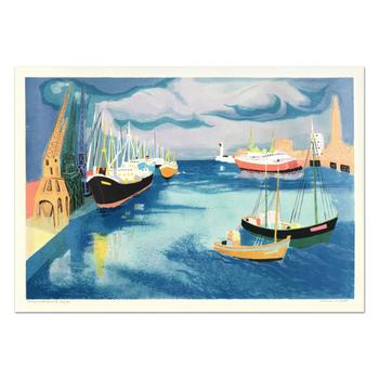 "Georges Lambert (1919-1998), ""Le Harve"" Limited Edition Lithograph, Numbered and Hand Signed."