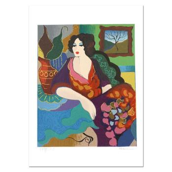 "Patricia Govezensky, ""Katy"" Hand Signed Limited Edition Serigraph with Letter of Authenticity."