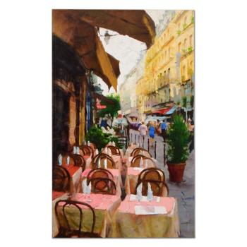 """Eugene Segal, """"A Street in Paris"""" Hand Embellished Limited Edition on Canvas, Numbered and Hand Signed with Certificate."""
