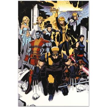 """Marvel Comics """"X-Men: Curse of the Mutants Storm and Gambit #1"""" Numbered Limited Edition Canvas by Chris Bachalo; Includes COA."""