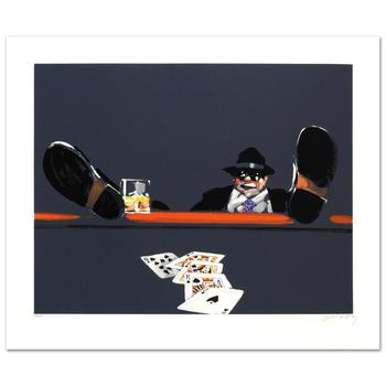 """Waldemar Swierzy(1931-2013), """"Royal Flush"""" Limited Edition Lithograph, Numbered and Hand Signed with Cert."""