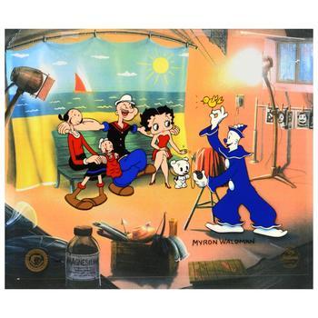 "Myron Waldman (d. 2006), ""Photo Op"" Ltd Ed Hand Inked & Painted Animation Cel, No. & Hand Signed w/COA."