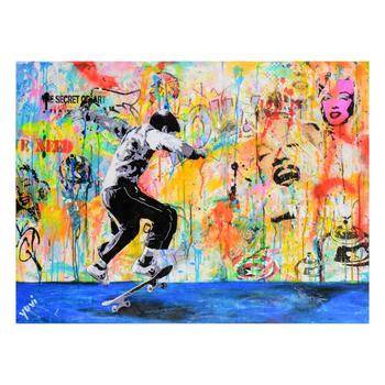 Yuvi - Hand Embellished Limited Edition on Canvas, Numbered and Hand Signed with Certificate of Authenticity.