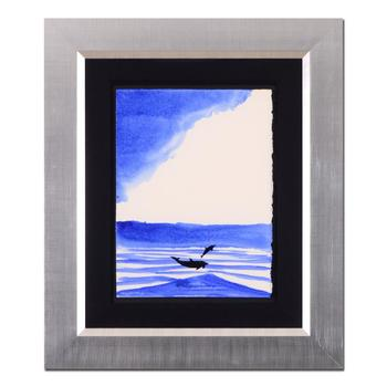 """Wyland - """"Two Dolphins"""" Framed Original Watercolor Painting, Hand Signed with Certificate of Authenticity. List $7,840"""