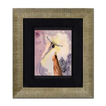 "Salvador Dali (1904-1989), ""The Apparition of Christ"" Framed Ltd Ed Ceramic Tile, Numbered 145/190 and Signed."