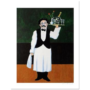 """Guy Buffet, """"Room Service"""" Limited Edition Serigraph; Numbered and Hand-Signed with Certificate of Authenticity."""