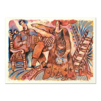 """Theo Tobiasse (1927-2012), """"Jour De Fete"""" Ltd Ed Lithograph, Numbered and Hand Signed with Letter of Authenticity."""