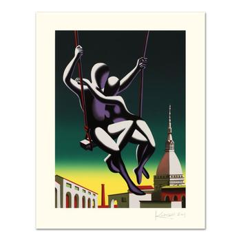 """Mark Kostabi, """"Above The World"""" Limited Edition Serigraph, Numbered and Hand Signed with Certificate."""