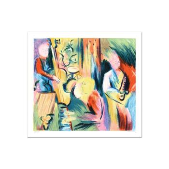 """David Bovetez, """"Take Five"""" Limited Edition Lithograph, Numbered and Hand Signed."""