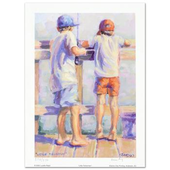 """""""Little Fishermen"""" Limited Edition Lithograph by Lucelle Raad, Numbered and Hand Signed by the artist."""