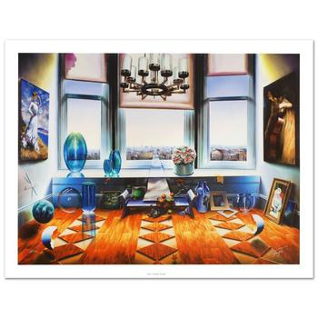 """Ferjo, """"City View"""" Limited Edition Giclee on Canvas (40"""" x 30""""), Numbered and Hand Signed with Certificate."""