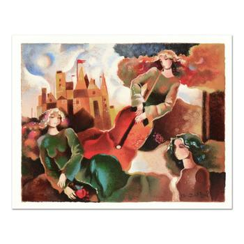 """Galina Datloof, """"Musical Flight"""" Limited Edition Serigraph, Numbered and Hand Signed with Certificate of Authenticity."""