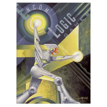 """Mike Kungl & Disney, """"Logic Games"""" Ltd Ed Giclee on Gallery Wrapped Canvas, No. & Hand Signed w/Cert."""