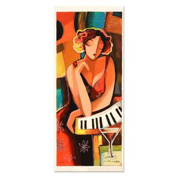 """Michael Kerzner, """"The Pianist"""" Limited Edition Serigraph, Numbered and Hand Signed with Certificate."""