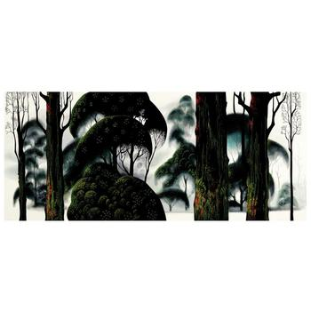 """Eyvind Earle (1916-2000), """"Forest Magic"""" Limited Edition Serigraph on Paper; Numbered & Hand-Signed; COA."""