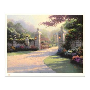 """Thomas Kinkade (1958-2012), """"Summer Gate"""" Limited Edition Offset Lithograph, Numbered and Hand Signed with Certificate."""