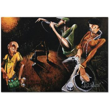 """David Garibaldi, """"The Get Down"""" LIMITED EDITION Giclee on Canvas, CC Numbered and Signed with Certificate."""