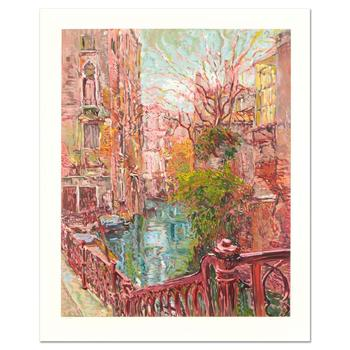 """Marco Sassone, """"Venice Reflections"""" Ltd Ed Serigraph (32"""" x 40""""), Numbered and Hand Signed with Letter of Authenticity."""