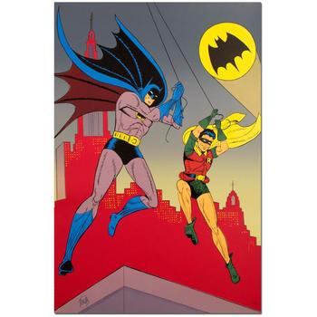 """Bob Kane (1915-1998), """"Batman & Robin"""" Extremely Rare Ltd Ed Original Lithograph, Numbered and Hand Signed with Cert."""