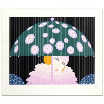 """Erte (1892-1990), """"Spring Showers"""" Limited Edition Serigraph, Numbered and Hand Signed with Certificate."""