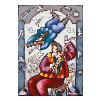 "Michael Kachan, ""String Duet"" Hand Embellished Limited Edition Serigraph on Canvas, No. and Hand Signed with LOA."