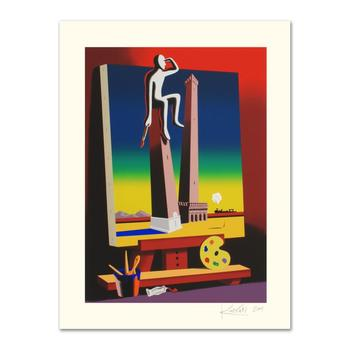 "Mark Kostabi, ""Loophole With A View"" Limited Edition Serigraph, Numbered and Hand Signed with Certificate."
