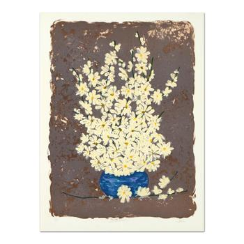 """Hari Hockey, """"Field Daisies"""" Limited Edition Embossed Lithograph, Numbered and Hand Signed."""