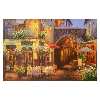 """Viktor Shvaiko, """"Evening in Provence"""" Hand Embellished Ltd Ed Serigraph on Canvas, Numbered and Hand Signed w/Cert."""