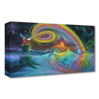 """""""Mickey's Magical Colors"""" Limited Edition Gallery Wrapped Canvas by Jim Warren from the Disney Treasures Collection; with COA."""