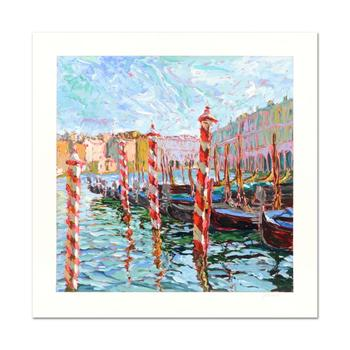"Marco Sassone, ""Bricole Rose"" Limited Edition Serigraph, Numbered and Hand Signed with Letter of Authenticity."