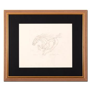 """Guillaume Azoulay - """"AU Sketch"""" Framed Original Drawing, Hand Signed with Certificate of Authenticity. List $4,950"""