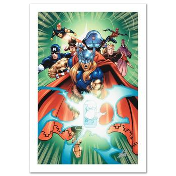 """Marvel, """"Last Hero Standing #5"""" Ltd Ed Giclee by Patrick Olliffe, Numbered & Hand Signed by Stan Lee w/Cert."""