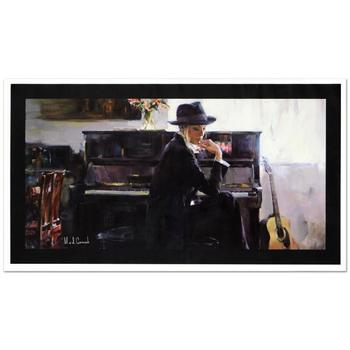 "Mikhail & Inessa Garmash, ""En Vogue"" Ltd Ed Hand Embellished Giclee on Canvas (40"" x 22""), No. & Hand Signed w/Cert."