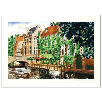 "Juan Medina, ""Open Window in Belgium"" Limited Edition Serigraph, Numbered and Hand Signed with Certificate."