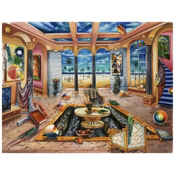 "Alexander Astahov, ""Beach House"" Hand Signed Limited Edition Giclee on Canvas with Letter of Authenticity."