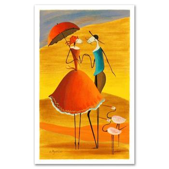 "Ester Myatlov, ""Serenade"" Limited Edition Serigraph, Numbered and Hand Signed with Certificate."