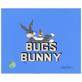 "Chuck Jones ""Title ""Bugs Bunny"""" Hand-Signed Hand-painted Limited Edition Sericel."