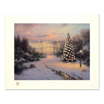 """Thomas  Kinkade (1958-2012), """"Lights of Liberty"""" Limited Edition Offset Lithograph, Numbered and Hand Signed with Certificate."""